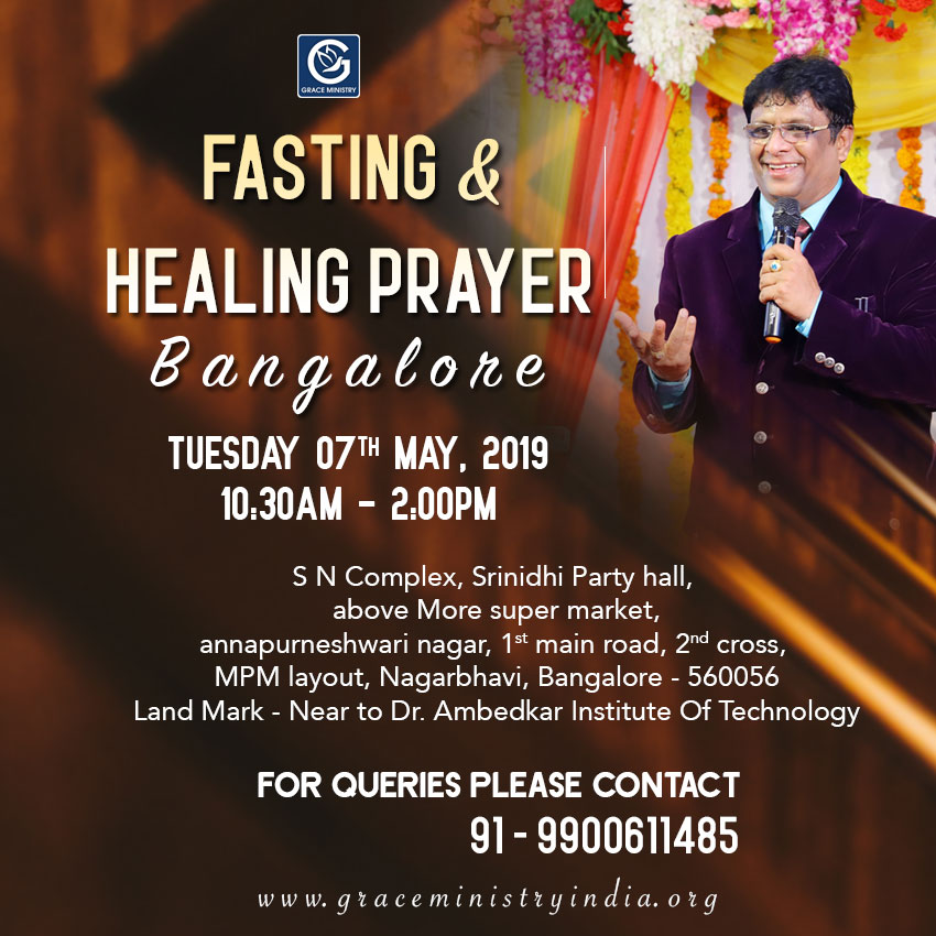 Join the Fasting & Healing Prayer in Bangalore by Grace