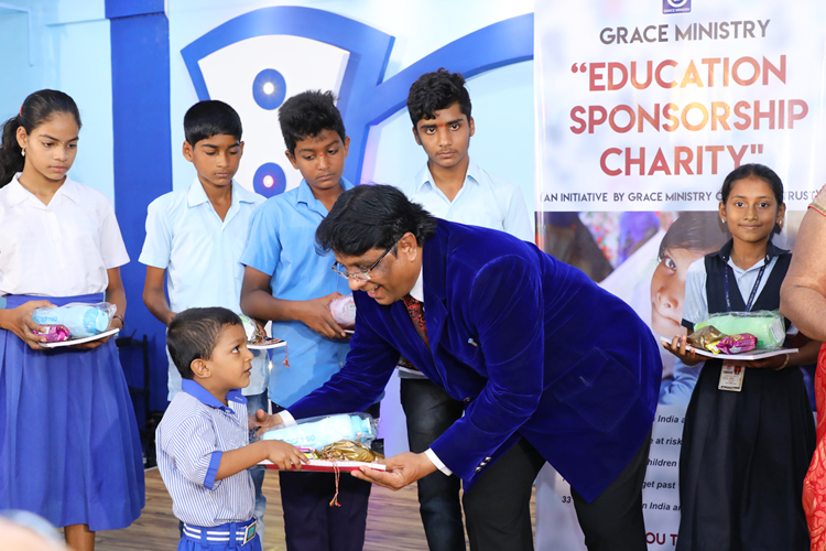 Sponsor a poor child for better and quality education. Grace Ministry provides a free monthly scholarship for about 67 poor students in India.